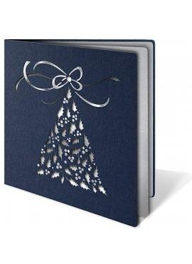 Kartka Świąteczna z Oryginalnym Motywem Choinki z Kokardą FS128g