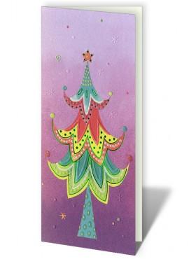 Kartka Świąteczna z Kolorową Choinką CFB0007