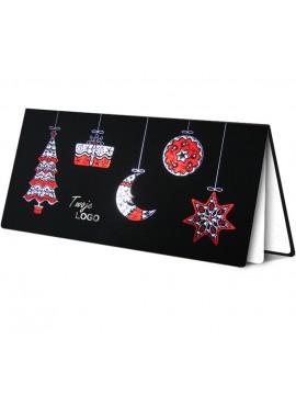 Kartka Świąteczna z Tłoczonymi Bombkami o Różnym Kształcie FS239ag