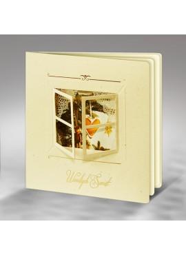 Kartka Świąteczna Wzór Okienka z Widokiem na Choinkę FS330e