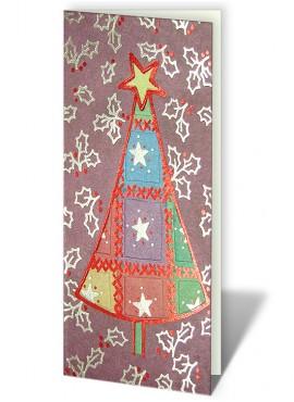 Kartka Świąteczna z Oryginalnym Motywem Choinki CFB0014