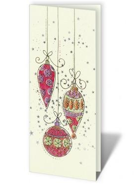 Kartka Świąteczna z Oryginalnym Motywem Bombek CFB0002