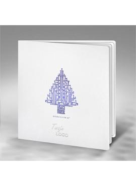 Kartka Świąteczna z Choinką w Formie Labiryntu FS676tb
