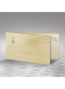 """Kartka Świąteczna z Wytłoczonym Napisem """"Wesołych Świąt"""" FS378tz"""