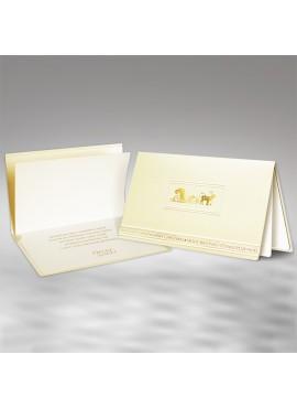Kartka Świąteczna ze Złotymi Saniami Mikołaja FS481tz