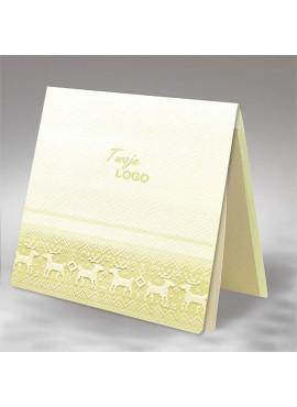 Kartka Świąteczna z Wytłoczonym Motywem Reniferów FS576