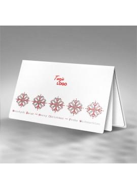 Kartka Świąteczna z Motywem Śnieżynek FS523