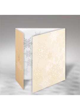 Kartka Świąteczna z Subtelnym Motywem Śnieżynek FS618