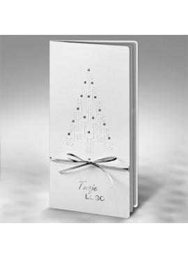 Kartka Świąteczna z Wytłoczoną Oryginalną Choinką FS420