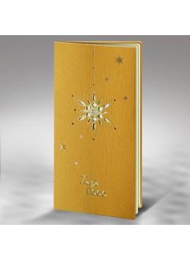Kartka Świąteczna ze Złoconą Gwiazdą Wyciętą Laserowo FS511az