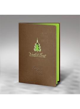 Kartka Świąteczna z Zieloną Choinką Wyciętą Laserowo FS631bl