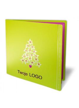 Kartka Świąteczna z Drzewkiem Bożonarodzeniowym FS349z