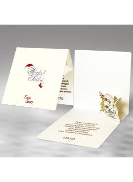 Kartka Świąteczna z Zabawną Zimową Scenką 3D FS546