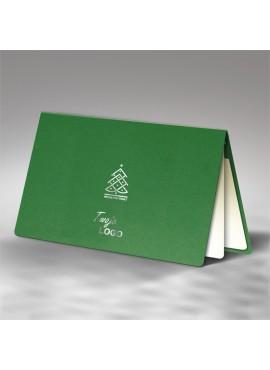 Kartka Świąteczna z Minimalistyczną Srebrzoną Choinką FS628zl