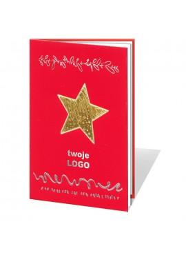 Kartka Świąteczna z Dużą Złotą Gwiazdą 011350wr
