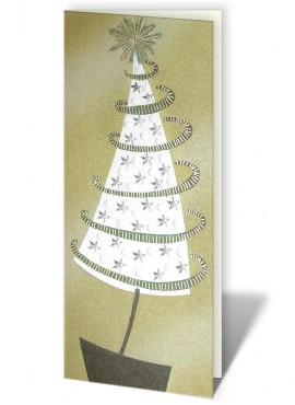 Kartka Świąteczna z Motywem Dużej Choinki CFB0015