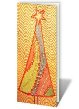 Kartka Świąteczna z Motywem Dużej Kolorowej Choinki CFB0001