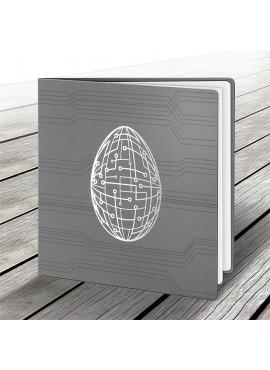 Kartka Świąteczna z Motywem Nowoczesnego Srebrnego Jajka W502