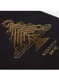 Kartka Świąteczna Złocona Geometryczna Choinka FS861ag