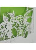 Kartka Świąteczna z Motywem Pisanek Wyciętych Laserowo W590
