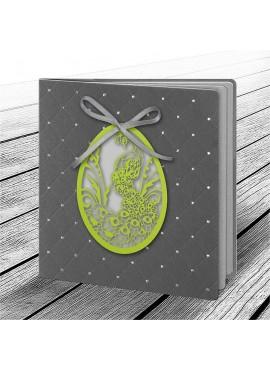 Kartka Świąteczna z Aplikacją w Postaci Ażurowego Jajka 2 W612