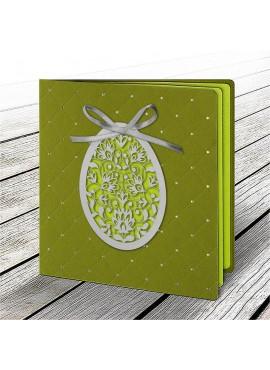 Kartka Świąteczna z Aplikacją w Postaci Ażurowego Jajka 3 W603