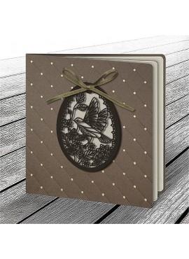 Kartka Świąteczna z Aplikacją w Postaci Ażurowego Jajka 6 W614