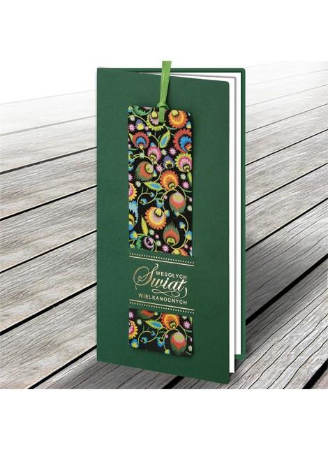 Kartka Świąteczna z Zakładką do Książki Motyw Folkowy W616