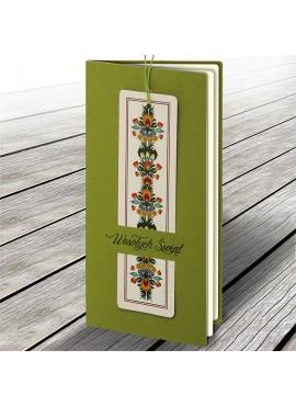Kartka Świąteczna z Zakładką do Książki Motyw Folkowy W618