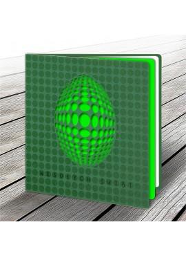 Kartka Świąteczna z Motywem Zielonego Jajka Wyciętego Laserowo W609