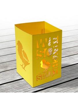 Kartka Świąteczna w Postaci Lampionu w Kolorze Żółtym 1 W636
