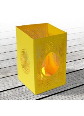 Kartka Świąteczna w Postaci Lampionu w Kolorze Żółtym 2 W637
