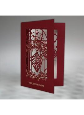 Kartka Świąteczna z Ażurowym Motywem FS912bg