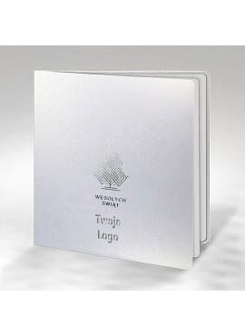 Kartka Świąteczna ze Srebrnym Ornamentem FS886tb
