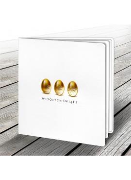 Kartka Świąteczna z Motywem Trzech Złotych Jajek W543