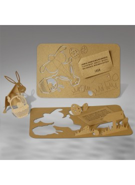 Kartka Świąteczna w Formie Wycinanki 3D 2 W367