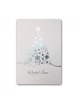 Kartka Świąteczna Choinka ze Śnieżynek FS892