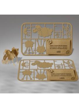 Kartka Świąteczna w Formie Wycinanki 3D 3 W369