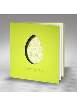 Kartka Świąteczna Wycięta Laserowo Pisanka z Kwiatowym Motywem W372