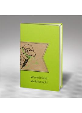 Kartka Świąteczna Ekologiczna Aplikacja z Wizerunkiem Baranka W461
