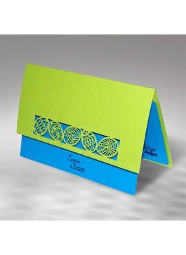 Kartka Świąteczna z Motywem Jajek Wyciętych Laserowo W463