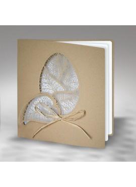 Kartka Świąteczna Eco Design z Ażurowo Wyciętą Pisanką W384