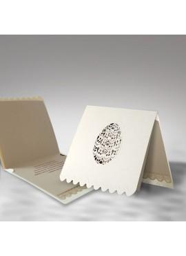 Kartka Świąteczna Eco Design z Fantazyjnie Wyciętą Pisanką W370