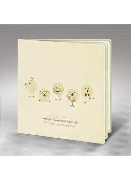 Kartka Świąteczna Eco Design z Wesołymi Kurczakami W392