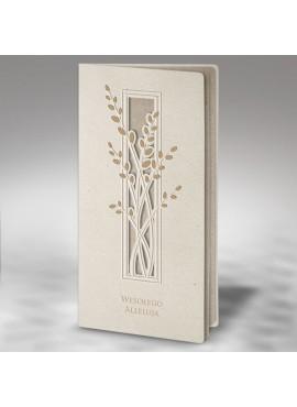 Kartka Świąteczna Eco Design z Wyciętymi oraz Tłoczonymi Gałązkami Wierzbowymi W388