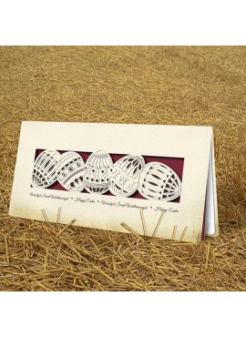 Kartka Świąteczna Eco Design z Motywem Jajek Wyciętych Laserowo W347