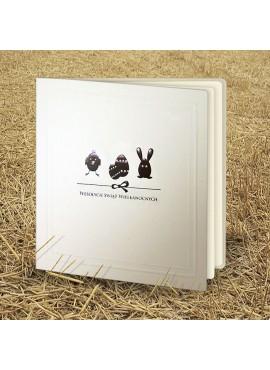 Kartka Świąteczna Eco Design z Subtelnym Wzorem Wielkanocnym W342