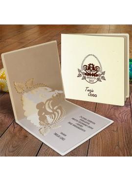 Kartka Świąteczna Eco Design z Wzorem Wielkanocnym 3D W403