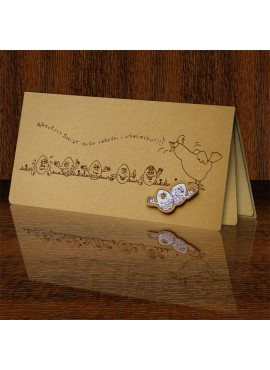 Kartka Świąteczna Eco Design z Zabawnym Motywem Jajek W408