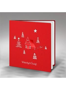 Kartka Świąteczna Chatka FS751c